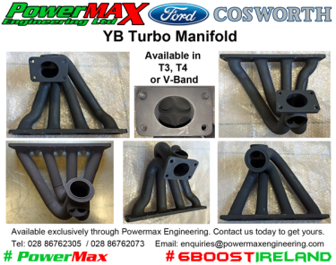Ford Cosworth YB 2WD 4WD Top Mount Manifold